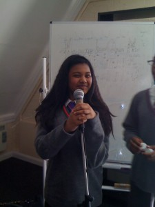 Aisha Performing her poems