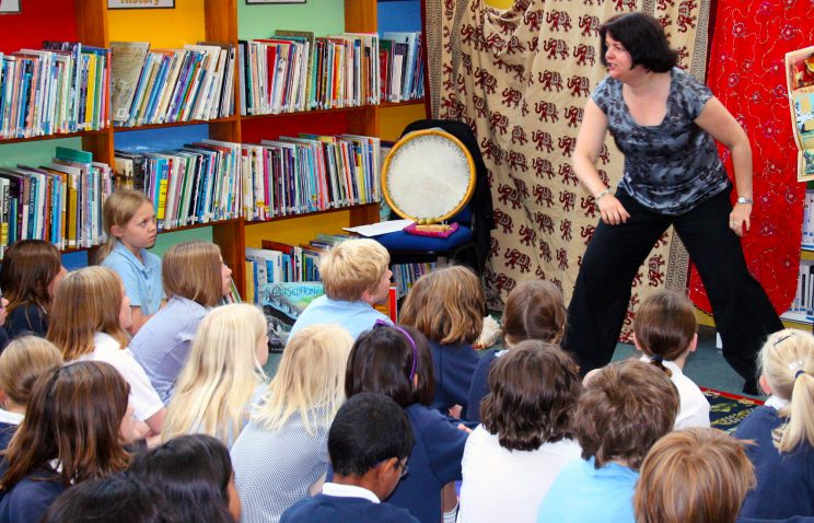sally pomme clayton storyteller for schools london
